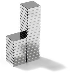 Q-10-10-02-N, Blokmagneet 10 x 10 x 2 mm, neodymium, N45, vernikkeld