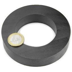FE-R-100-60-20, Anneau magnétique Ø 100/60 mm, hauteur 20 mm, ferrite, Y35, sans placage