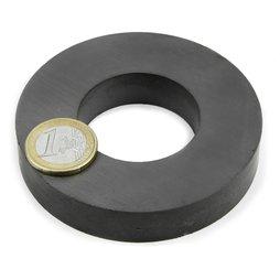 FE-R-80-40-15, Anneau magnétique Ø 80/40 mm, hauteur 15 mm, ferrite, Y35, sans placage