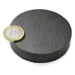 FE-S-70-15, Disc magnet Ø 70 mm, height 15 mm, ferrite, Y35, no coating
