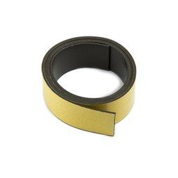 MT-30-STIC/01m, Bande magnétique adhésive ferrite 30 mm, bande magnétique autocollante, rouleau de 1 m