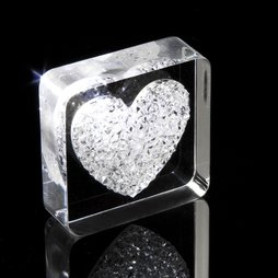 LIV-38, Diamond Heart, fridge magnet Heart, with Swarovski crystals