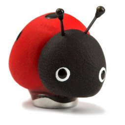 LIV-41/ladybug, Handmade magnets, one of a kind objects made of Fimo in set of 4, Ladybird