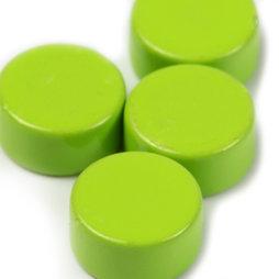 LIV-44/green, Steely, groene neodymium magneten, set van 10, 6 x 3 mm klein