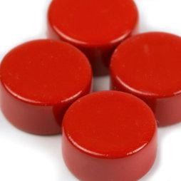 LIV-44/red, Steely, rode neodymium magneten, set van 10, 6 x 3 mm klein