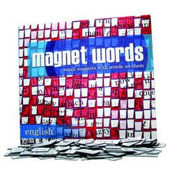 LIV-47/eng, Parole magnetiche, parole, sillabe e segni di punteggiatura, 510 pezzi, inglese