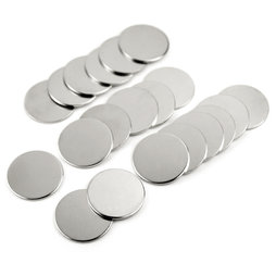 M-37, Metal discs 35 x 2 mm, not magnets!, ferro-magnetic, nickel-plated, Set of 20