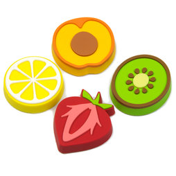 LIV-50, Fruity, fruit-shaped deco magnets, set of 4
