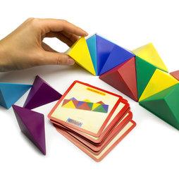 M-41, Cube tangram, composé de 24 tétraèdres magnétiques, avec 20 fiches modèle
