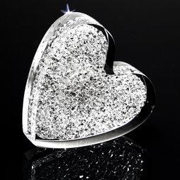 LIV-55, Cœur scintillant, aimant de réfrigérateur puissant, avec des cristaux Swarovski