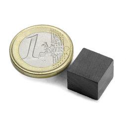 FE-Q-12-12-10, Parallélépipède magnétique 12 x 12 x 10 mm, ferrite, Y35, sans placage