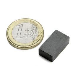 FE-Q-18-10-06, Quadermagnet 18 x 10 x 6 mm, Ferrit, Y35, unbeschichtet