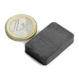 FE-Q-30-20-06, Parallélépipède magnétique 30 x 20 x 6 mm, ferrite, Y35, sans placage