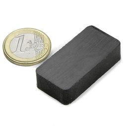FE-Q-40-20-10, Quadermagnet 40 x 20 x 10 mm, Ferrit, Y35, unbeschichtet