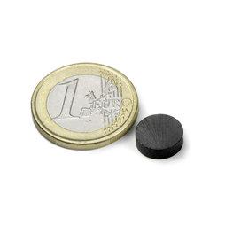 FE-S-10-03, Disco magnético Ø 10 mm, alto 3 mm, ferrita, Y35, sin revestimiento
