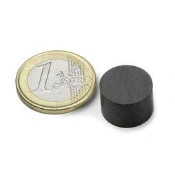 FE-S-15-10, Disque magnétique Ø 15 mm, hauteur 10 mm, ferrite, Y35, sans placage
