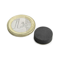 FE-S-15-05, Disc magnet Ø 15 mm, height 5 mm, ferrite, Y35, no coating