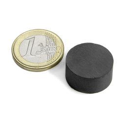 FE-S-20-10, Disque magnétique Ø 20 mm, hauteur 10 mm, ferrite, Y35, sans placage