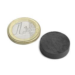 FE-S-20-05, Disco magnético Ø 20 mm, alto 5 mm, ferrita, Y35, sin revestimiento