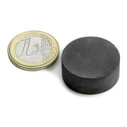 FE-S-25-10, Disque magnétique Ø 25 mm, hauteur 10 mm, ferrite, Y35, sans placage