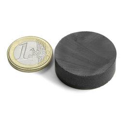 FE-S-30-10, Disco magnetico Ø 30 mm, altezza 10 mm, ferrite, Y35, senza rivestimento