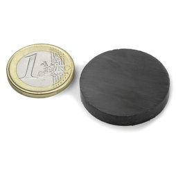 FE-S-30-05, Disc magnet Ø 30 mm, height 5 mm, ferrite, Y35, no coating