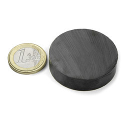 FE-S-40-10, Disc magnet Ø 40 mm, height 10 mm, ferrite, Y35, no coating