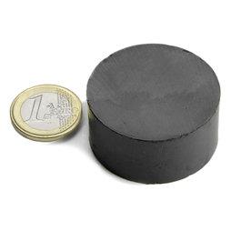 FE-S-40-20, Disco magnetico Ø 40 mm, altezza 20 mm, ferrite, Y35, senza rivestimento