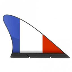 M-42/fre, Fanvin landvlag, magneetvlag voor de auto, Frankrijk