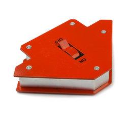 WS-WLD-01, Équerre pour soudage petite, magnétique, avec interrupteur marche/arrêt, longueur des côtés env. 9,5 cm