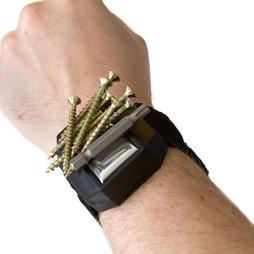 WS-MWH-02, Bracciale con magnete, per chiodi, viti, punte, etc...