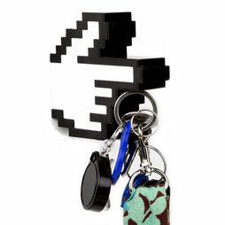 M-49, Porte-clés magnétique 'main 8-bits', avec index magnétique, face arrière magnétique