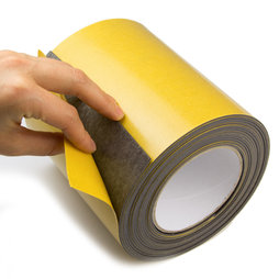 MT-150-STIC, Magnetic adhesive tape ferrite 150 mm, self-adhesive magnetic tape, rolls of 1 m / 5 m / 25 m