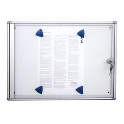 DC-2A4, Display case 2 x A4, for 2 A4 sheets, extra-flat design, with lock