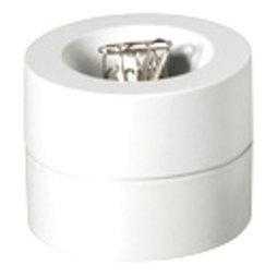 M-CLIP/white, Papercliphouder magnetisch, met sterke kernmagneet, van kunststof, wit