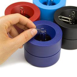M-CLIP, Dispenser magnetico di graffette, con potente magnete centrale, in plastica, in diversi colori