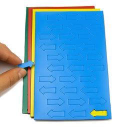 BA-012A, Magnetische symbolen pijl klein, voor whiteboards & planborden, 30 symbolen per vel, in verschillende kleuren