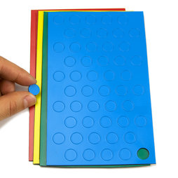 BA-012C, Magnetic symbols Circle small, for whiteboards & planning boards, 50 symbols per sheet, in different colours