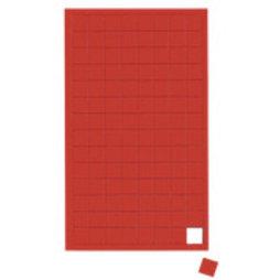 BA-012S/red, Symboles magnétiques carré petit, pour tableaux blancs & tableaux de planning, 112 symboles par feuille, rouge