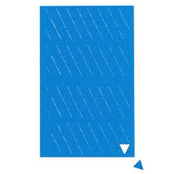BA-012T/blue, Symboles magnétiques triangle petit, pour tableaux blancs & tableaux de planning, 180 symboles par feuille, bleu