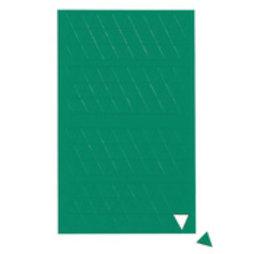 BA-012T/green, Symboles magnétiques triangle petit, pour tableaux blancs & tableaux de planning, 180 symboles par feuille, vert