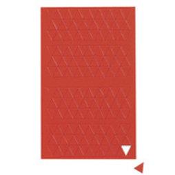 BA-012T/red, Symboles magnétiques triangle petit, pour tableaux blancs & tableaux de planning, 180 symboles par feuille, rouge