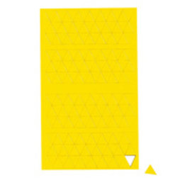 BA-012T/yellow, Symboles magnétiques triangle petit, pour tableaux blancs & tableaux de planning, 180 symboles par feuille, jaune