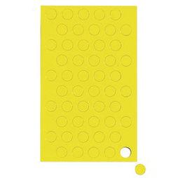 BA-012C/yellow, Magnetische symbolen cirkel klein, voor whiteboards & planborden, 50 symbolen per vel, Geel