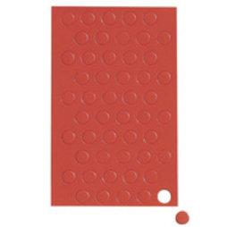 BA-012C/red, Magnetische symbolen cirkel klein, voor whiteboards & planborden, 50 symbolen per vel, rood