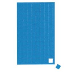 BA-012S/blue, Symboles magnétiques carré petit, pour tableaux blancs & tableaux de planning, 112 symboles par feuille, bleu