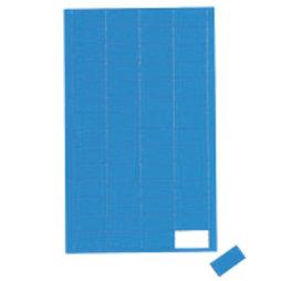 BA-012R/blue, Symboles magnétiques rectangle petit, pour tableaux blancs & tableaux de planning, 56 symboles par feuille, bleu
