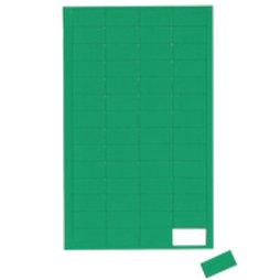 BA-012R/green, Symboles magnétiques rectangle petit, pour tableaux blancs & tableaux de planning, 56 symboles par feuille, vert
