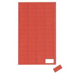 BA-012R/red, Symboles magnétiques rectangle petit, pour tableaux blancs & tableaux de planning, 56 symboles par feuille, rouge