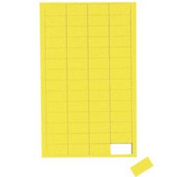 BA-012R/yellow, Symboles magnétiques rectangle petit, pour tableaux blancs & tableaux de planning, 56 symboles par feuille, jaune